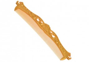 WOODEN HAIR COMB (432 GOLD)