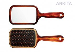 PADDLE HAIR BRUSH WITH MIRROR